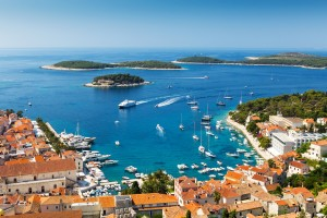 Harbor in Hvar town, Croatia