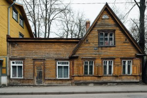 Typical wooden house in Tallinn, Estonia