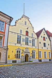House of Blackheads in the Old city of Tallinn in Estonia