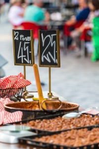 Traditional street food in Copenhagen, Denmark