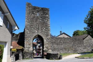 The medieval gate of Yvoire, France.Yvoire is a medieval city built in the early 14th century.