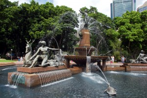 The Archibald Fountain in Hyde Park, New South Wales, Australia