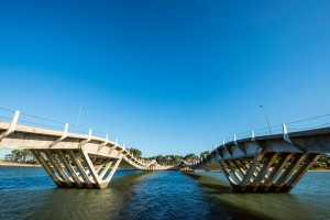 Wavy-gravy bridge located in La Barra, Maldonado, Uruguay