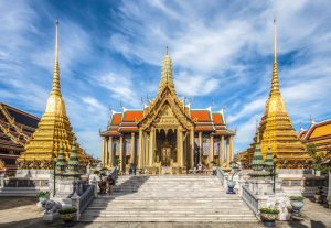Temple of the Emerald Buddha, Bangkok, Thailand.