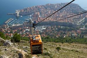 teleférico em Dubrovnik
