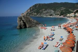 Praia de Monterosso Al-Mare, Cinque Terre, Itália