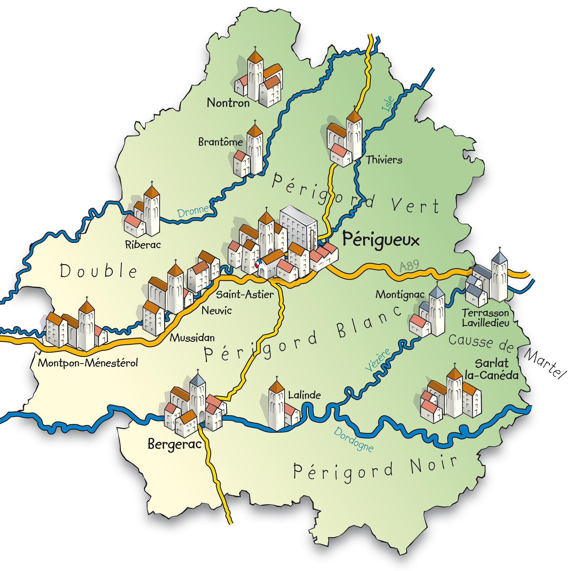 mapa de frança com os rios Vale do Dordonha, na França, uma viagem charme mapa de frança com os rios