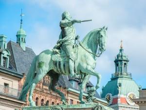 Estátua de Rei Gustav II Adolfs