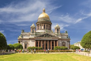 Saint Isaac Cathedral in Saint Petersburg, Russia