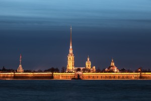 Peter and Paul Fortress in the ivening, St. Petersburg
