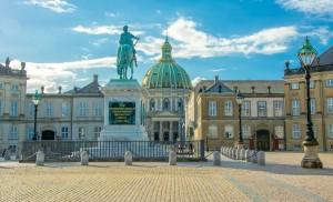 Amalienborg in Copenhagen, Denmark