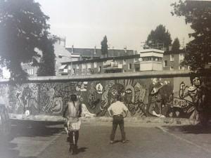 Muro de Berlim em Kreuzberg, 1986
