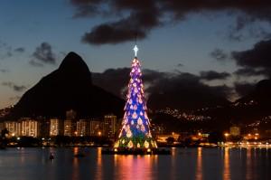 Christmas Tree in Rio de Janeiro, Brazil