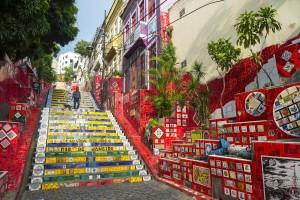 Escadaria Selarn (Selaron Steps), Lapa in Rio de Janeiro, Brazil
