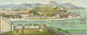 Morro do Castelo no Séc. XIX, retratado por aquarelistas viajantes