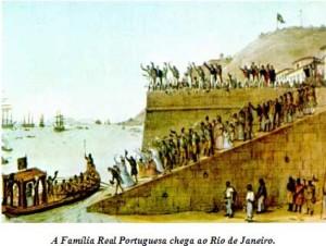 A Família Real Portuguesa chega ao Rio de Janeiro, site gabriellyekarina.wikispaces.com