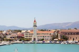 town of Zakynthos, Greece.