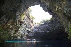 Melissani lake on Kefalonia, Greece