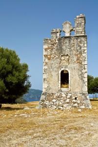 Old monastery of 'Agrilia' at Kefalonia island in Greece