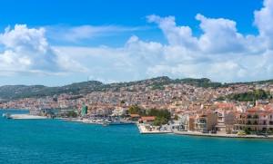 View of Argostoli Town, Kefalonia Island, Ionian Sea, Greece