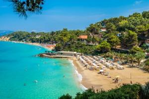 Platis Gialos e Makris Gialos beachs, Kefalonia island, Greece
