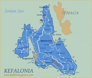 mapa Kefalônia