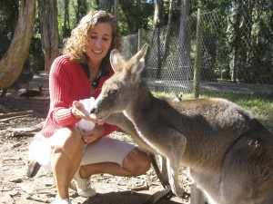 alimentando o canguru