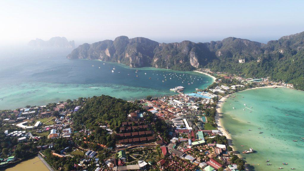 vista aérea de Tonsai, Tailândia