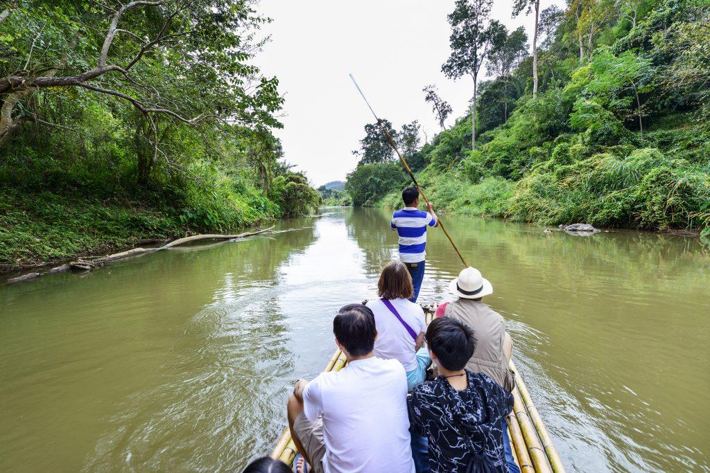 bamboo raft, Chiang Mai, Tailândia