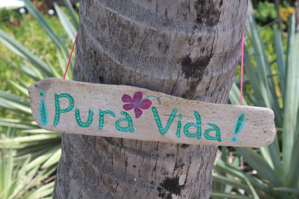 Pura Vida, expressão utilizada na Costa Rica