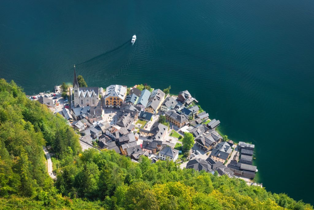 vista do Skywalk em Hallstatt