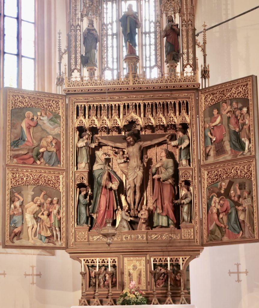 Altar da Igreja Católica  Parish of the Assumption em Hallstatt