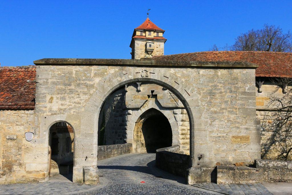 Portão Spitaltor, Rothenburg, Alemanha