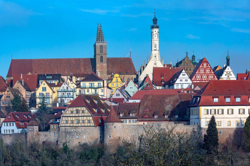 Muralha de Rothenburg ob der Tauber, Bavaria, Alemanha