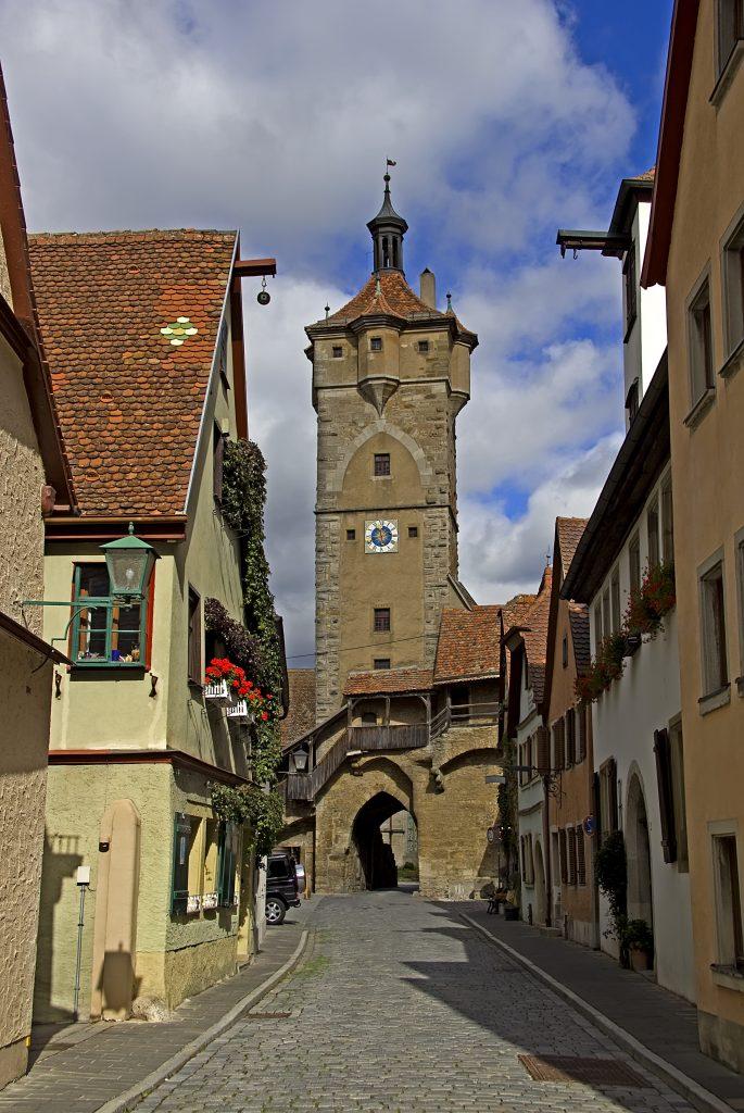 Torre Klingentor em Rothenburg ob der Tauber, Alemanha