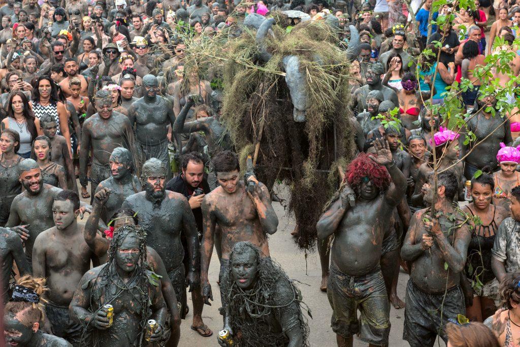 Bloco de Lama do Carnaval de Paraty, Rio de Janeiro, Brazil