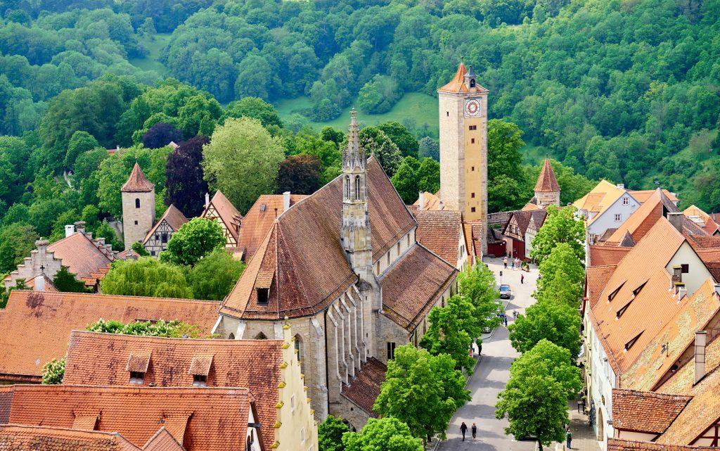 Franziskanerkirche, Rothenburg ob der Tauber, Alemanha