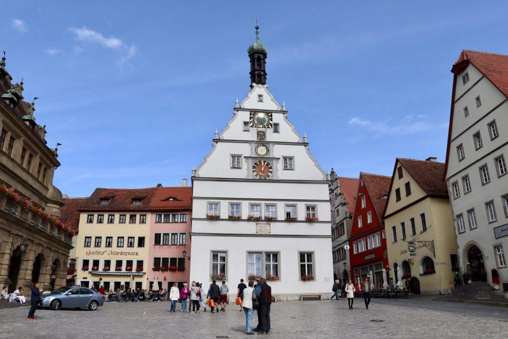 Marktplatz em Rothenburg Ob Der Tauber, Alemanha