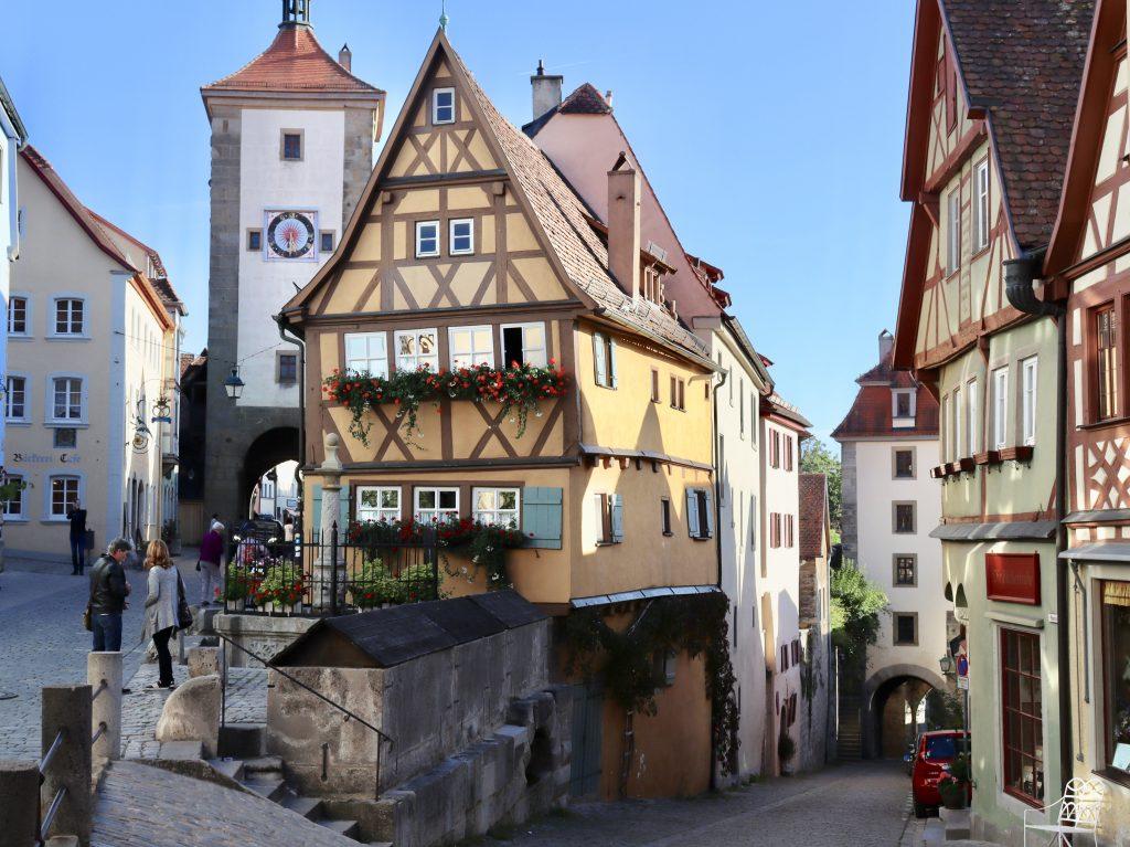 Plönlein em Rothenburg Ob Der Tauber, Alemanha