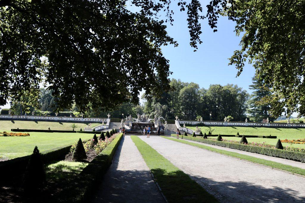 Jardim do castelo de Cesky Krumlov, República Tcheca
