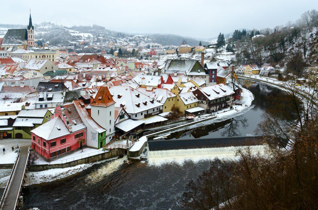 Český Krumlov no inverno