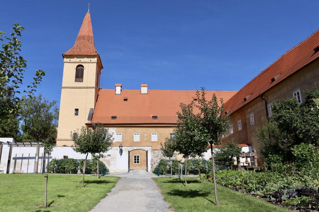jardim do Mosteiro Minorites, Cesky Krumlov, República Tcheca