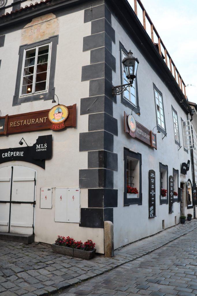Restaurante Švejk em Cesky Krumlov, República Tcheca