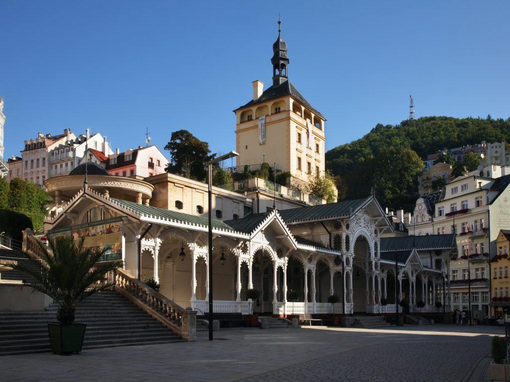 Colunata do Mercado e a Colunata do Castelo, Karlovy Vary, República Tcheca